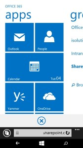 Mobile View von SharePoint Online auf Windows Phone