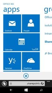 Mobile View von SharePoint Online auf Windows Phone